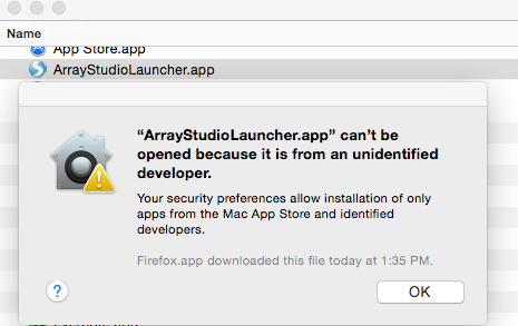 ArrayStudio ClickOnce Launch in Mac - Array Suite Wiki