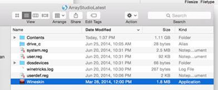 Modify ArrayStudio ClickOnce Launch Link in Mac - Array
